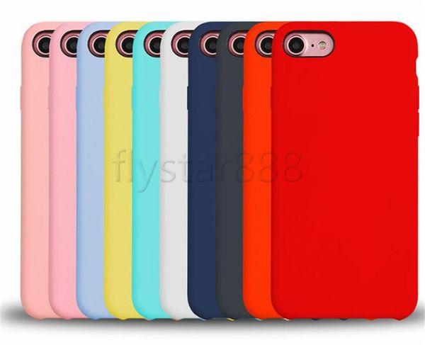0604de0dfc5 Funda de silicona oficial de lujo para Apple iphone X 8 7 plus 6 6s plus