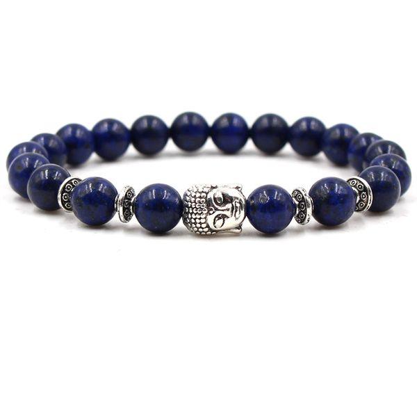 Lapis Lazuli Stone Chakra Healing Beaded Bracelet Reiki Prayer Stones Unisex