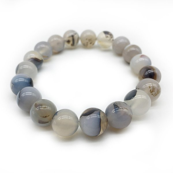 4mm 8mm 10mm 12mm Trecho Pulseira Bangle Elastic pedra natural cteated bead jóias vintage pulseras india beads 18.5 cm