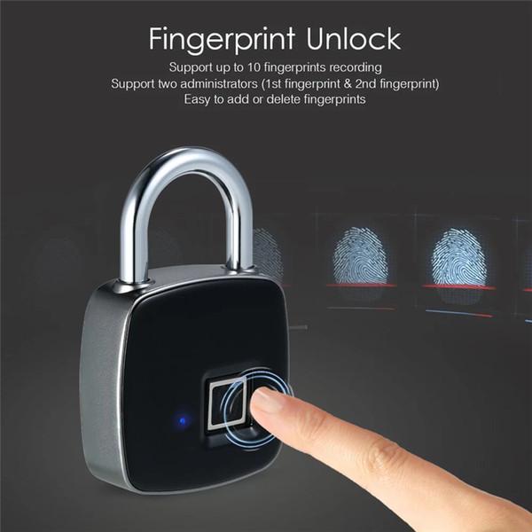 Inteligente de Impressão Digital de Bloqueio de Carregamento USB Casa Anti-roubo Bloqueio À Prova D 'Água Portátil de Impressão Digital Porta Inteligente Acessórios Para Casa