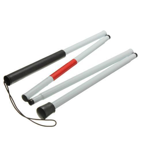 Al por mayor caliente con discapacidad visual Muleta bastón de ciego Bastón Walker aluminio plegado fácil