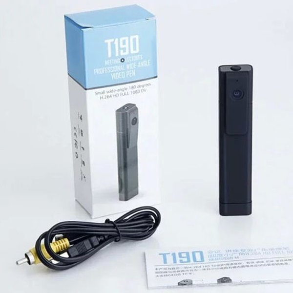 T190 Cámara digital mini cámara de video Full HD 1080P H.264 Trabajo durante la carga Mini DV Videocámara Grabador de voz