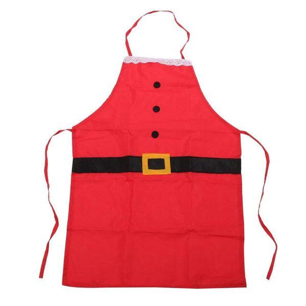 IALJ Top Father Christmas Novelty Apron Santa Suit Design Gift Idea for Fun Festive Fancy Dress