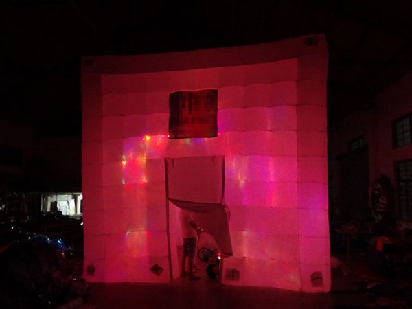 Boa qualidade oxford grande cubo inflável tenda com ventilador