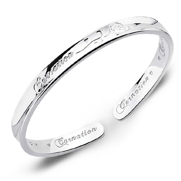 Wholesale 925 sterling silver fashion ladies`bangles jewelry no fade women bangle drop shipping birthday gift cheap