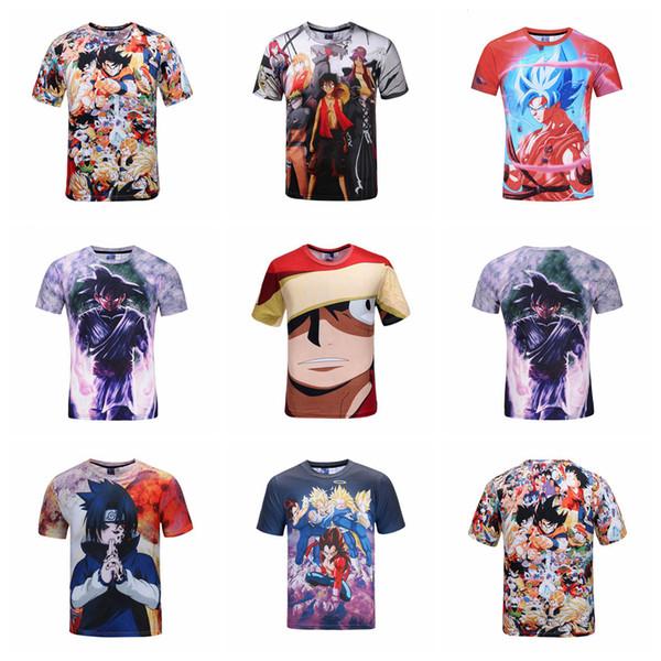 Impression 3D T-shirts Dragon Ball One Piece Naruto Anime 3D Imprimé Tee Shirts D'été Vêtements Enfants Chemises OOA4903