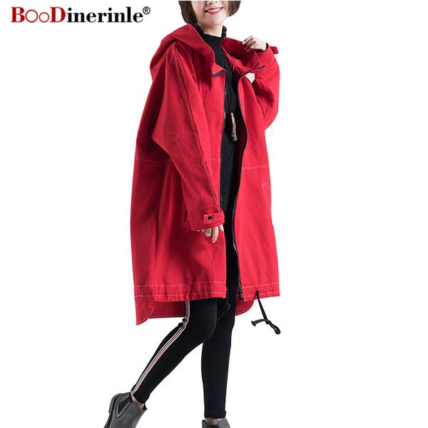 Coat Denim Acheter Casual Femmes Automne Long Manteau Trench Pour wnCgq