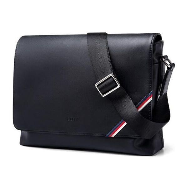 2018 nova famosa Marca Clássico designer de moda Homens de couro messenger bags cross body bag escola bookbag bolsa de ombro pasta 25 CM