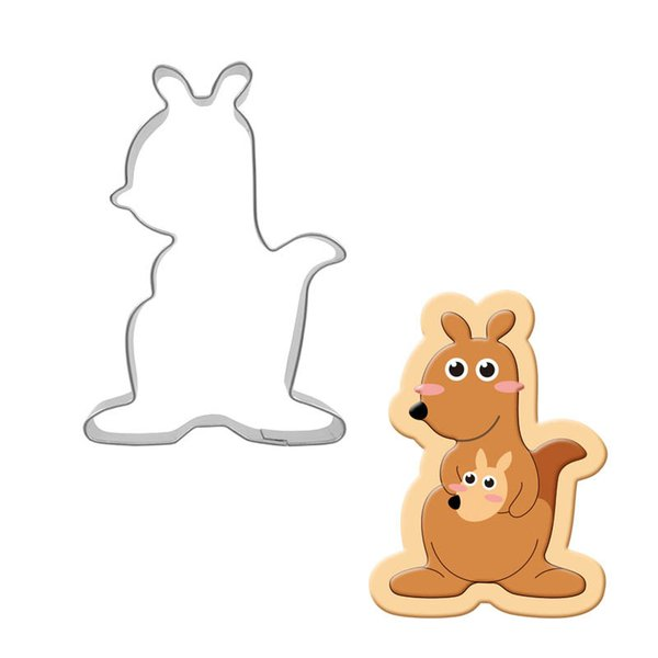 50pcs Stainless Steel Kangaroo Cookie Cutter Biscuit Press Stamp Mold Child Pasta