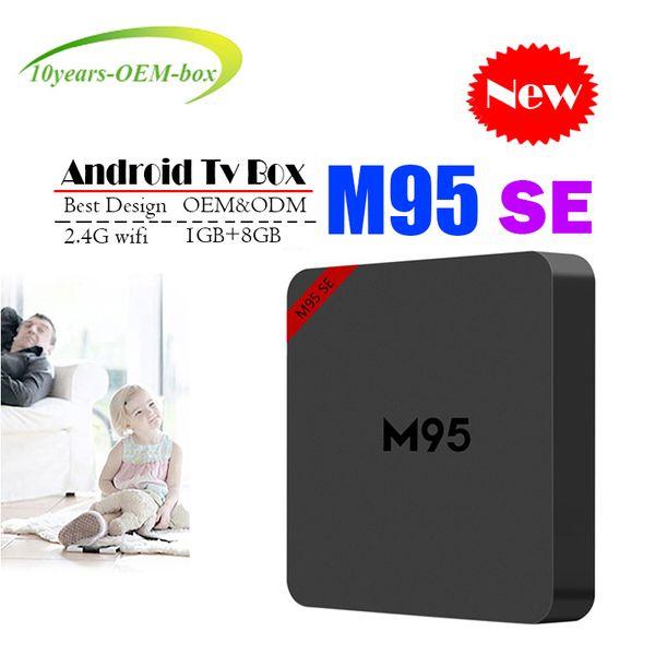 New M95 SE Allwinner H3 Android TV Box 1GB 8GB Quad Core 100M Lan 2.4G WiFi 4K VP9 HDR10 IPTV Android Smart media player BETTER MXQ PRO 4K