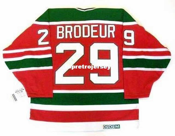 Wholesale Mens MARTIN BRODEUR New Jersey Devils 1992 CCM Vintage Cheap Retro Hockey Jersey