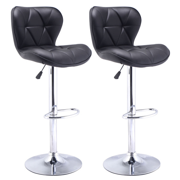 buy online 9cf78 8e698 Online Cheap Set Of 2 Bar Stools Leather Modern Hydraulic Swivel Dinning  Chair Barstool Black By Hongxinlin21 | DHgate.Com