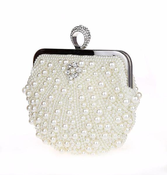 Abendtaschen Frauen Clutch Taschen Abend Clutch Bag Hochzeit Braut Handtasche Perle Perlen Lace Rose Mode Strass Taschen Luxus 2019