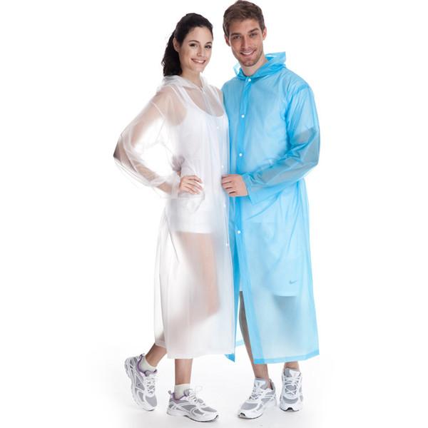 PVC Portable Raincoat Environment Safety Rain coat With Hood For Men And Women Children Outdoors Rainwear