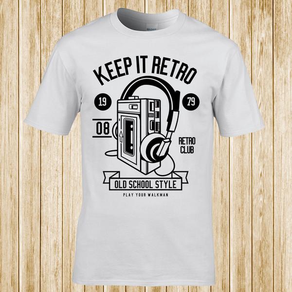 Mantenha-o t-shirt retro