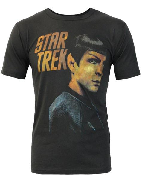 Summer New Men Cotton T-Shirt Junk Food Star Trek Spock Portrait Men's T-Shirt Brand T-Shirt Men 2018 Fashion