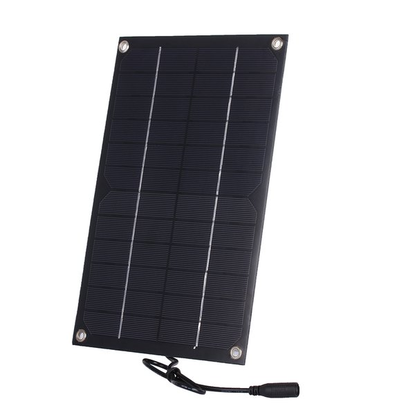 2pcs/lot 6W 12V Semi-Flexible Solar Panel DC Output Monocrystalline Solar Cell with DC Cable for Battery Charging and Solar System