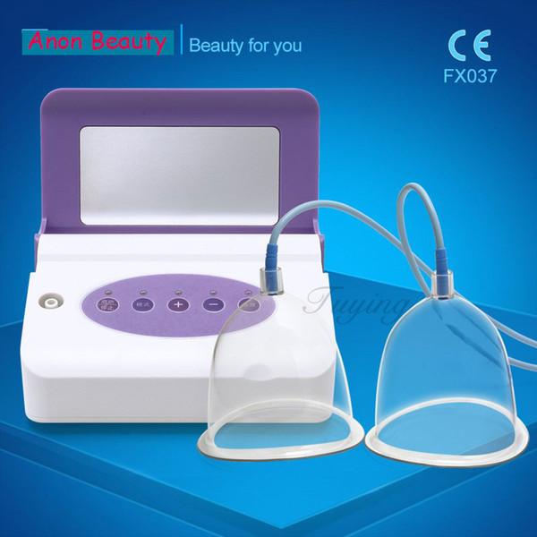 Uso doméstico vibração electro máquina de massagem de mama recarregável com grande médio pequeno privado ventosas para ampliação do peito