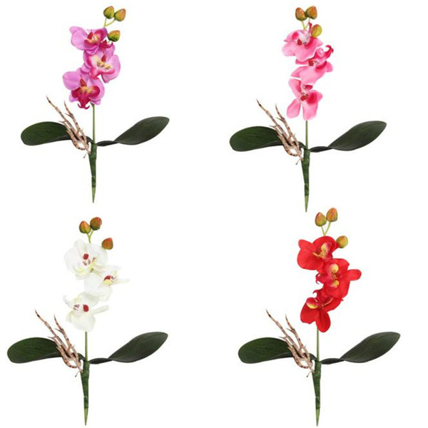 Triple Head Artificial Butterfly Orchid Silk Flower Home Wedding Decor L528