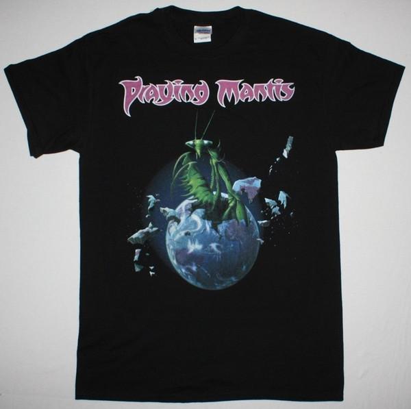 Praying Mantis Praying Mantis Nwobhm Budgie Samson Angel Witch New Black T-Shirt T Shirt Discount 100 % Cotton T Shirt For Men's