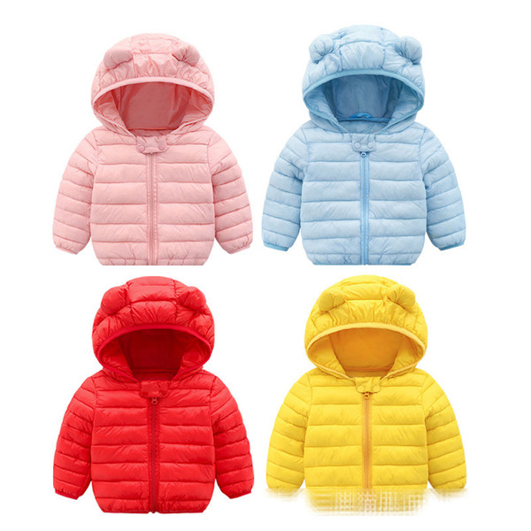 8 Farbe 2018 Winter Mit Kapuze Baby jungen mädchen wintermantel kinder Oberbekleidung Kinder Jacke Outfits baby mädchen winter kleidung jacken für mädchen B