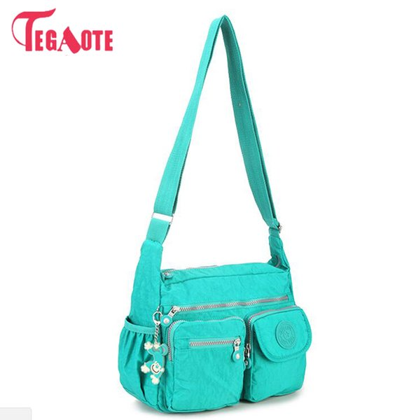 TEGAOTE Nylon Women Shoulder Bags Solid Zipper Bags Handbags Women Messenger Bag Summer Beach Crossbody Female Sac A Main
