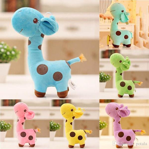 12CM Plush Giraffe Soft Toy Animal Dear 5inch Doll Baby Kid Child 5'' Birthday Happy Gift Xmas New year gifts birthday halloween c
