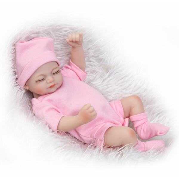 Simulation Full Body Silicone Reborn Baby Dolls Mini Lovely Gift Lifelike Handmade Artificial Doll Soft Safety And Innocuity 75tz WW