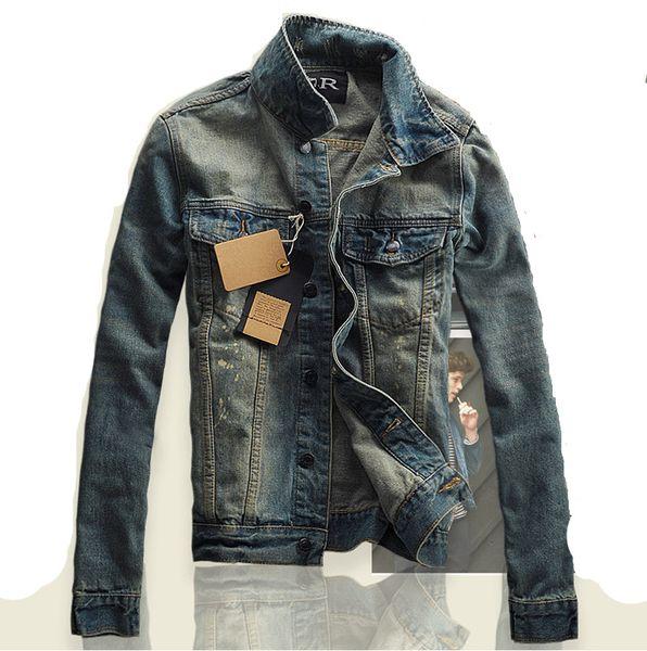 S-3XL Spring Autumn Men Jacket and Coats  Clothing Denim Jacket Fashion Mens Jeans Outwear Male Cowboy Hip Hop
