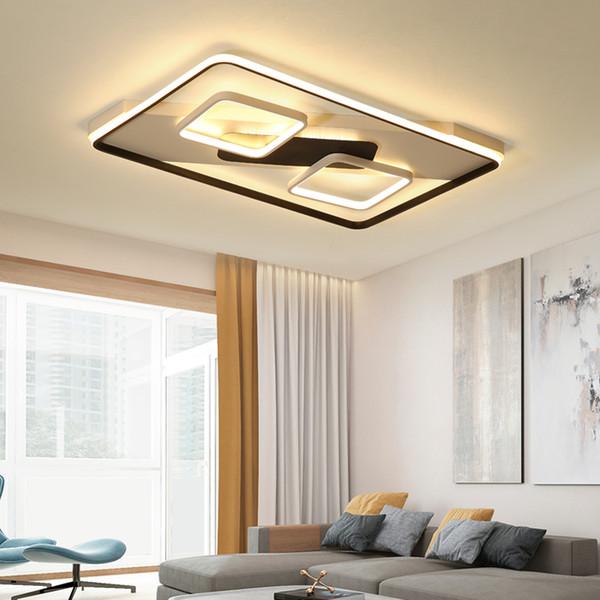 Acheter Chandelierrec Aluminium Decor Moderne Led Plafond Lampes Dans Bas Plafonds Salon Chambre Maison Eclairage Eclairage De Plafonniers De 250 09