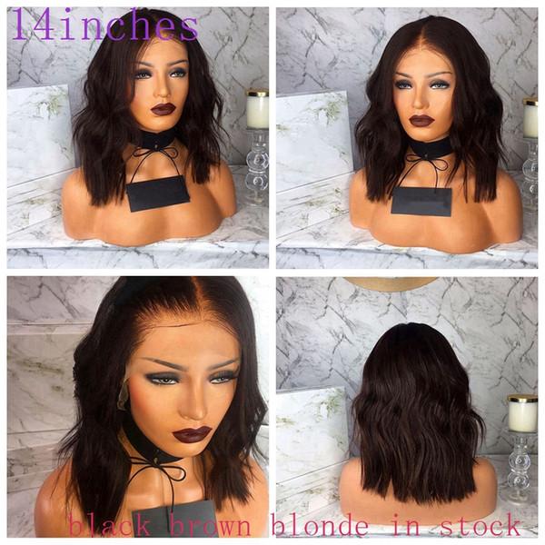 Parrucche afroamericane sciolte Wave Parrucca bionda marrone nero in magazzino Parrucca anteriore in pizzo sintetico resistente al calore per le donne di colore