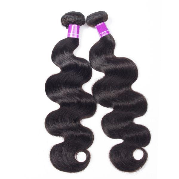 2Bundles Mink Brazilian Body Wave Virgin Hair Weave Bundles 8-30 inch 100% Human Hair Jet Natural Black Color Bundles