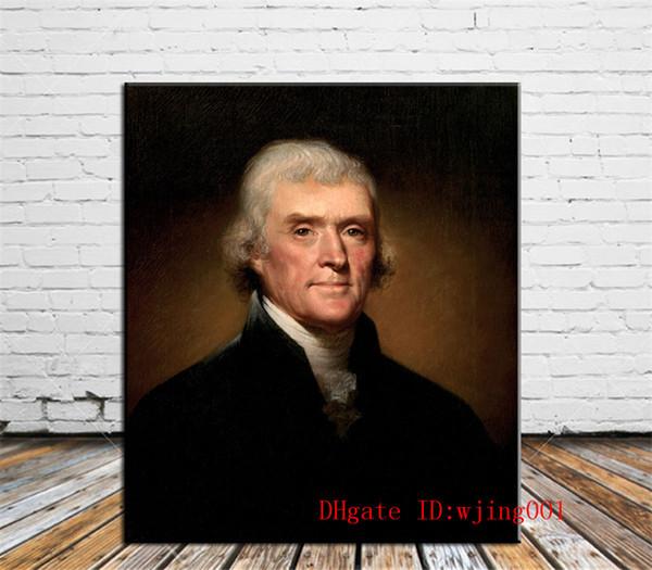 Thomas Jefferson, Peças de Lona Decoração de Casa HD Impresso Arte Moderna Pintura em Tela (Sem Moldura / Emoldurado)