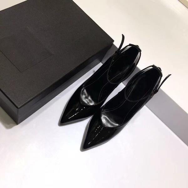 каблук 10.5 см кожа острые ощущения каблуки женщины уникальный дизайнер остроконечный toe платье свадебная обувь Сексуальная Марка обувь письма каблук сандалии размер 35-40