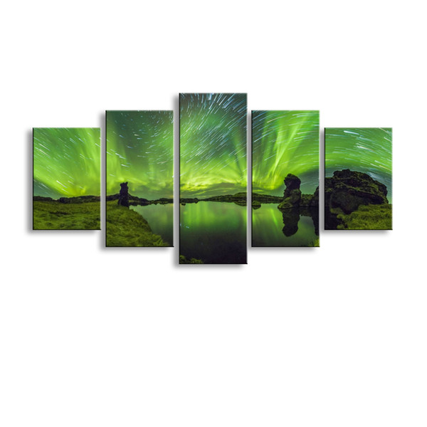 5 pieces high-definition print planet canvas oil painting poster and wall art living room picture XY-022