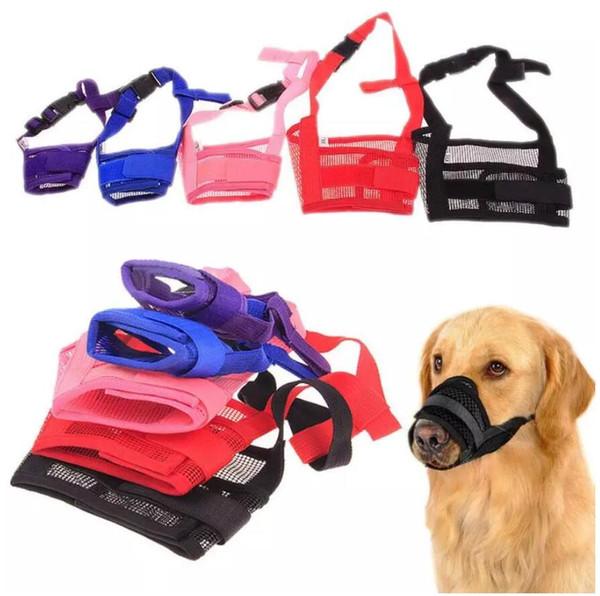 Chien de compagnie réglable masque écorce morsure bouche bouche muselage toilettage Anti Stop mâcher 21pcs / lot livraison gratuite