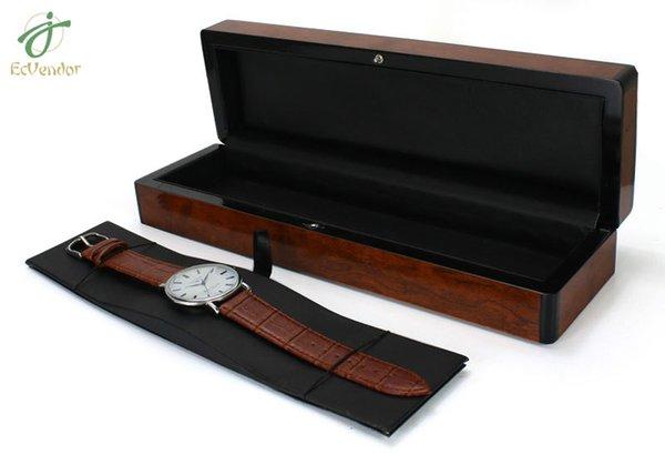 Mann-Frauenuhr-Halterschwarzer hölzerner Kasten für Uhr / Uhren-Kästen mit keinem Logo als kreatives Geschenk der Art und des Geschenk-Kastens dropshipping