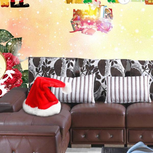 Elektrische Weihnachtsmütze Red Velvet Christmas Music Swing Hut Weihnachten Innovative Dekoration Lieferungen