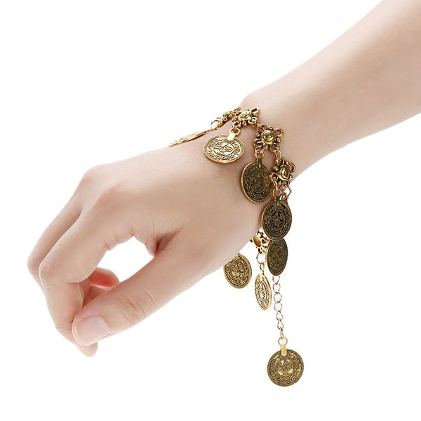 Tornozeleira Summer Bronze/Silver Coin bBezel Charm Bracelet Bohemia Beach Metal Tassel Sandal Anklet Foot Leg Jewelry for Women