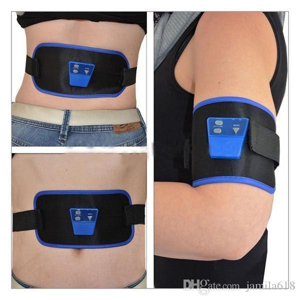 Electronic Gymnic Device Electric Muscle Exercise Body Arm leg Waist Abdominal Massager Toning Belt slimming massage belt fat burning