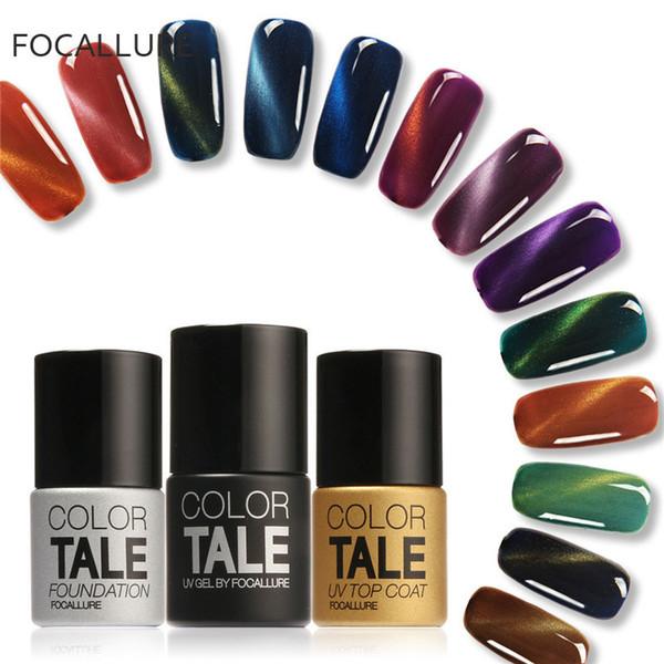Focallure Brand Tale Fashion 1Pcs 12ml 3D UV Nail Polish LED Cat Eyes Color Soak Off UV Gel Polish Lacquer Varnish