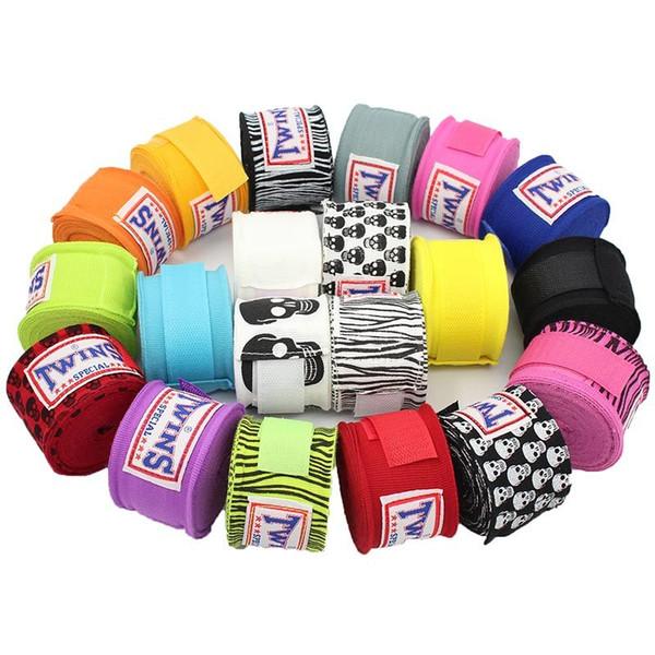 2pcs/pack 5M Boxing Wraps Twins Cotton Muay Thai Karate Bandage Wrist Kick Fight Straps Sports Sanda Guantes MMA Taekwondo Gloves F