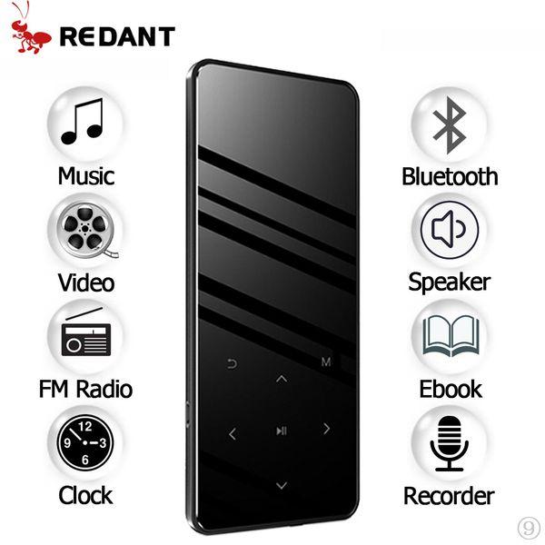 MP3 Player bluetooth with Speaker touch screen hi fi fm radio mini USB mp3 sport MP 3 HiFi music player portable metal walkman