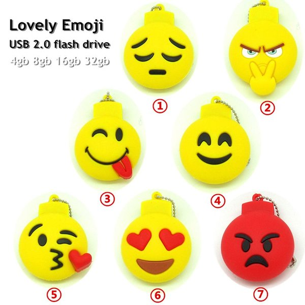 cool lovely naughty/anger Emoji emotion usb flash drive disk External memory stick pendrive Pen drive 32GB 64GB 128GB 256GB gift