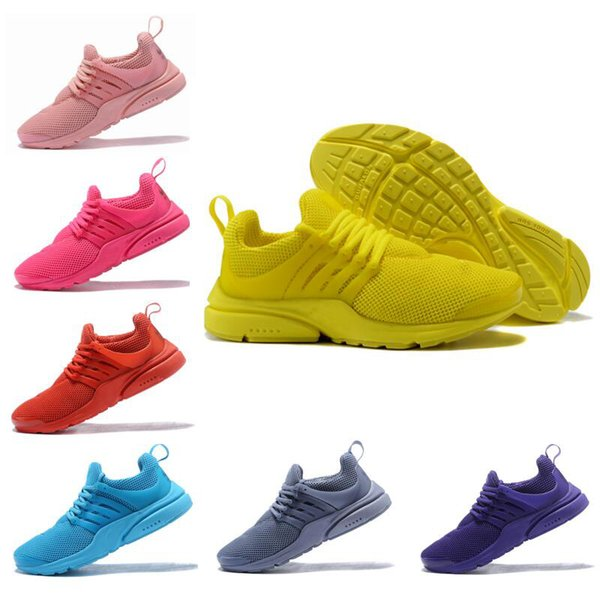 2018 Brand New Presto Designer Running Shoes Fluorescent Mens Womens Fashion Colorful Skateboarding Casual Sport Sneakers