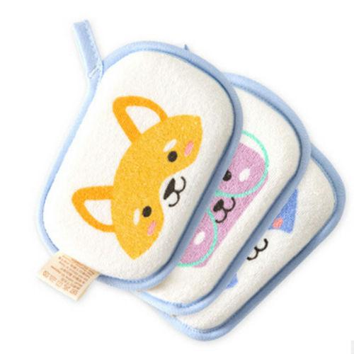 Hot Comfortable Baby Towel Accessories Infant Shower Faucet Bath Brushes Sponge Cotton T-shaped New