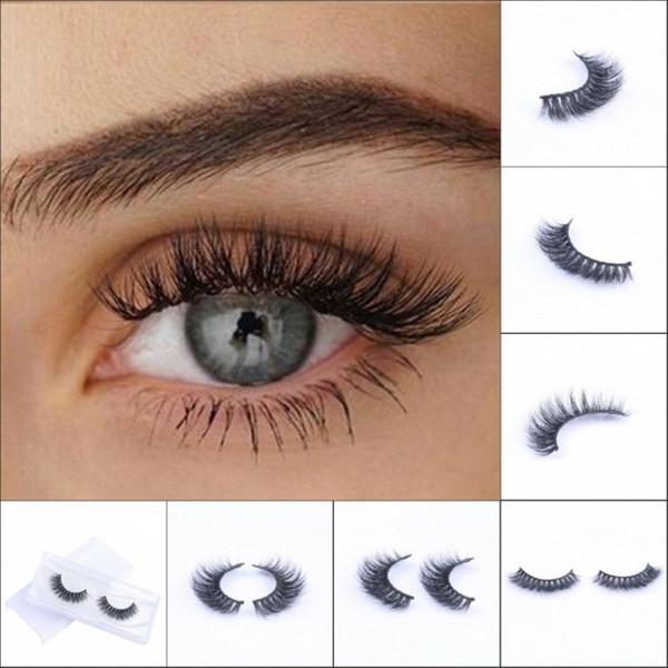 Hot Selling Mink False Eyelashes 100% Real Siberian 3D Mink Full Strip Lashes Natural Long Black Eyelash Extensions