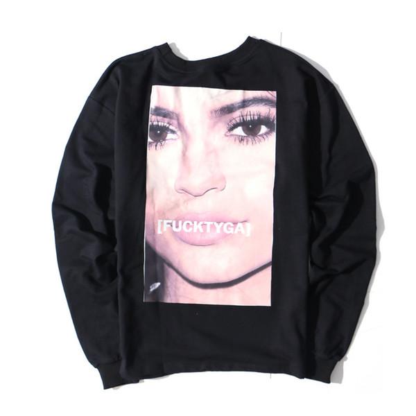 Hip Hop Oversize Thin Sweatshirt Men Women Funny Joker TYGA KylieJenner Kanye West Hoodies Men Fashion Cloth