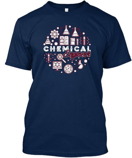 Химик-инженер футболка 100% хлопок с коротким рукавом летние футболки 2018 Новое прибытие мужчины футболка новый нормальный