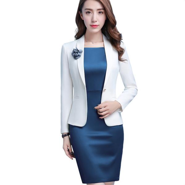 Professional Women white blazer 2018 New spring fashion clothes Business formal jacket OL office lady plus size work wear